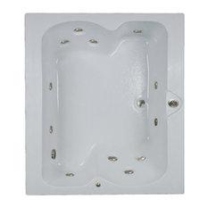 MOD   Dauphin 2 Person Whirlpool Bathtub, White   Bathtubs