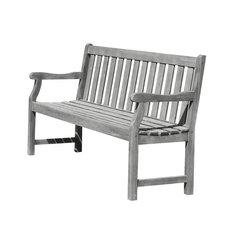 Renaissance Eco-Friendly 5' Outdoor Hand-Scraped Hardwood Garden Bench