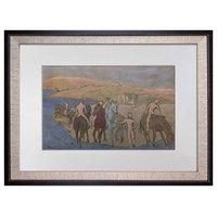 """Pablo Picasso Lithograph Signed """"Le Bain Dex Chevaux"""" (horses), 1923"""