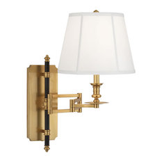 Robert Abbey Williamsburg Lewis 1 Bulb Sconces in Antique Brass