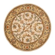 Safavieh Heritage Collection HG967 Rug, Beige/Gold, 6' Round