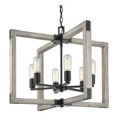 Golden Lighting Lowell - Six Light Chandelier, Black Finish