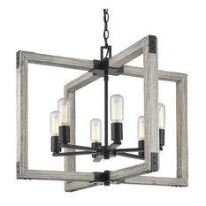 Golden Lighting Lowell - Six Light Chandelier, Black Finish