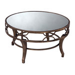Table Treviso Coffee Table In Antique Gold Washed Metal