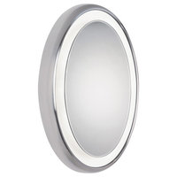 Tech Lighting Tigris Oval Mirror, LED, Chrome