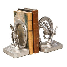 Bookends Bookend Horseshoe Horse Polo Player