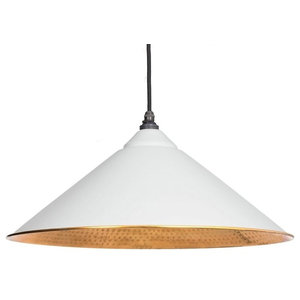 From The Anvil Yardley Pendant, Light Grey Hammered Copper