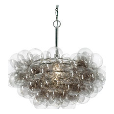 Bubbles Chandelier, Polished Nickel