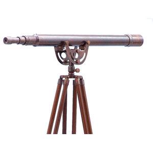 """Floor Standing Anchormaster Telescope, Antique Copper, 65"""""""