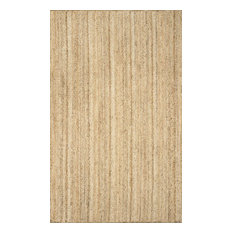 nuLOOM Hand Woven Jute and Sisal Rigo Area Rug, Natural, 8'x10'
