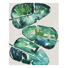 """Banana Leaves"" Canvas Print by Summer Thornton, 40x50 cm"