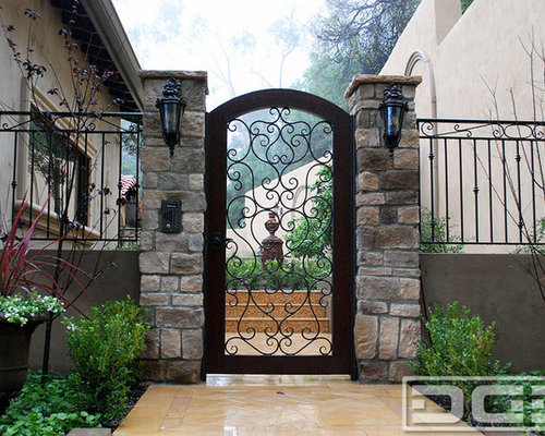 Dynamic Garage Door   Custom Entry Gates For A Mediterranean Style Home  Located In Beverly Hills