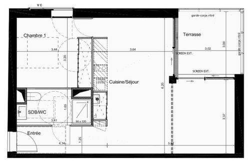 modification plan appartement vefa