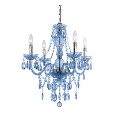 Naples 4-Light Mini Chandelier, Blue