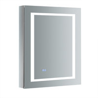 """Spazio 24""""x30"""" Bathroom Medicine Cabinet With LED Lighting and Defogger, Right"""