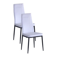 Johnston Dining Side Chairs, Set of 2, White
