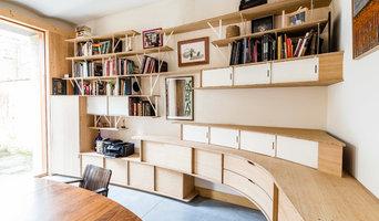 Buffet, bibliothèque, cave à cigares curve wood & steel