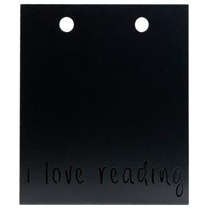 I Love Reading Magazine Rack, Black
