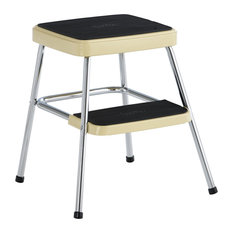 COSCO Stylaire Retro Two-Step Step Stool, Yellow
