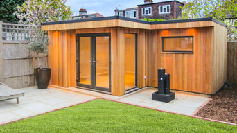 'L' shaped garden room East Sheen, London