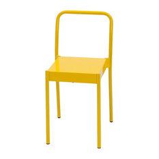 La Table Powder-Coated Steel Chair, Yellow