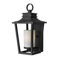 Hinkley Sullivan Outdoor Small Wall Mount Lantern, Black