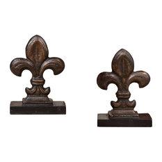Fleur-de-Lis Bookend, Bronze