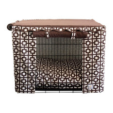Bowhausnyc   LattIce Crate Cover, Large   Dog Kennels And Crates
