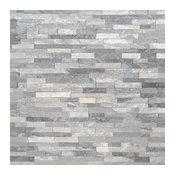 Florence Alaska Gray Mini Panel 4.5X9, Splitface, Marble, Ledgers