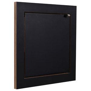 Fläpps Square Small Plywood Shelf, Black