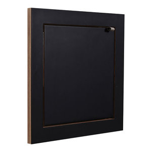 Fläpps Square Small Plywood Shelf, Black