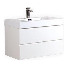 kubebath bottega vanity white 36 bathroom vanities and sink consoles - Small Modern Bathroom Vanities