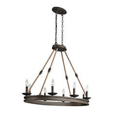 Oval Chandelier 8-Light