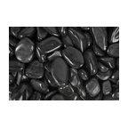 "Super Polished Pebbles, Black, 1"" to 2"", 30 Lb."