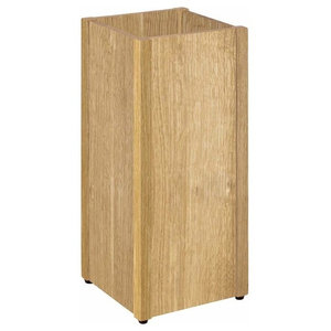 Contemporary Umbrella Stand in Solid Beech Wood, Oak