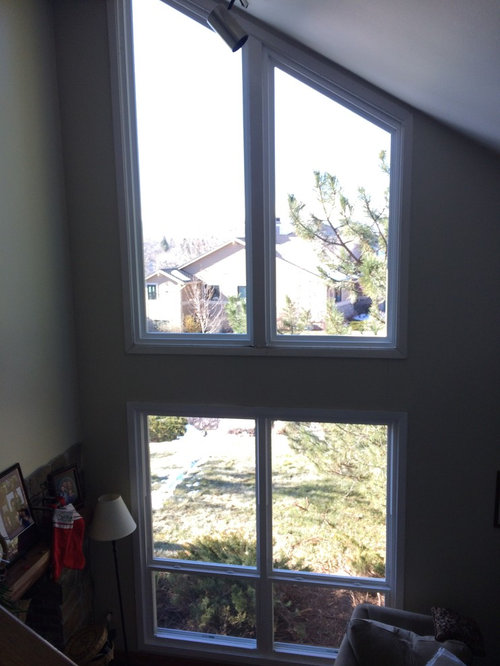 These Are My Front Living Room Windows In A Somewhat Rustic Contemporary Home Colorado I Enjoy An Open View To Outside But The Face West