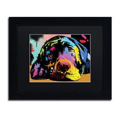 """Dean Russo 'Lying Lab' Framed Art, Black Frame, 11""""x14"""", Black Matte"""