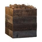 Reclaimed Wooden Patio Planter, Medium