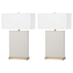 Safavieh Joyce Faux Snakeskin Table Lamp Set Of 2