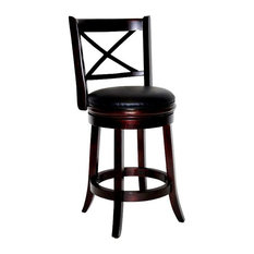 Georgia Swivel Stool Cappuccino 29-inch