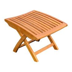 International Caravan Outdoor Wood Folding Foot Rest