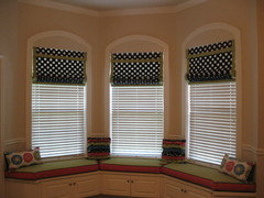 Roman Shades With 2 Inch Wooden Blinds