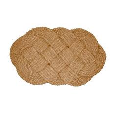 Coir Natural Lovers Knot Doormat