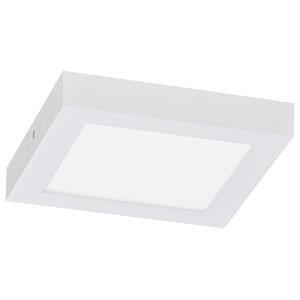 "Sky Box Ceiling Lamp, White, 1.50""x8.66""x8.66', 3200k Led"
