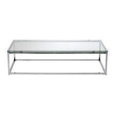 Chrome Glass Coffee Tables Houzz