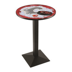 Calgary Flames Pub Table 28-inchx36-inch by Holland Bar Stool Company