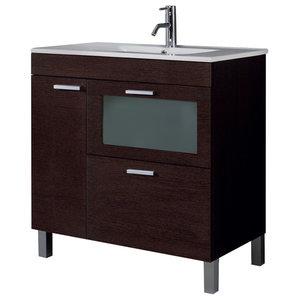 AMK 800 Bathroom Vanity Unit, 80x45 cm, Wenge
