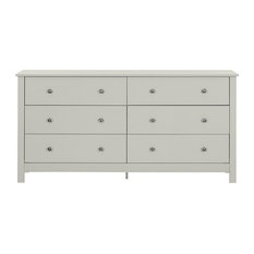 Florence Wide Chest of Drawers, Soft Grey
