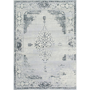 Traditional Faded Abstract Rug, Light Gray, 9'x12'
