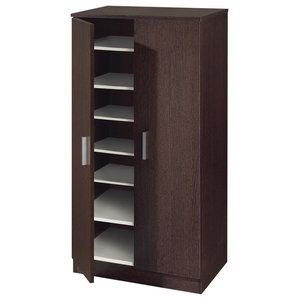 Basic 7 Shelf Shoe Rack, Wenge
